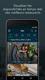 Réserver un restaurant avec BimApp.io